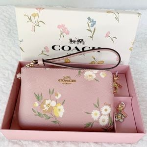 NWT Boxed Coach Wristlet with Charms